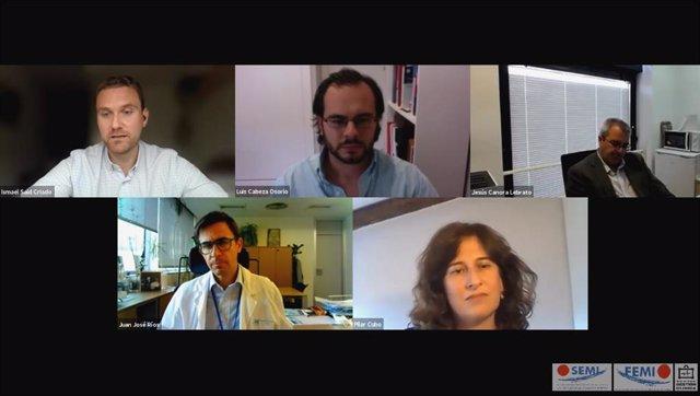 Participantes en el webinar 'Cambios en la organización sanitaria post-COVID. ¿Para siempre?'