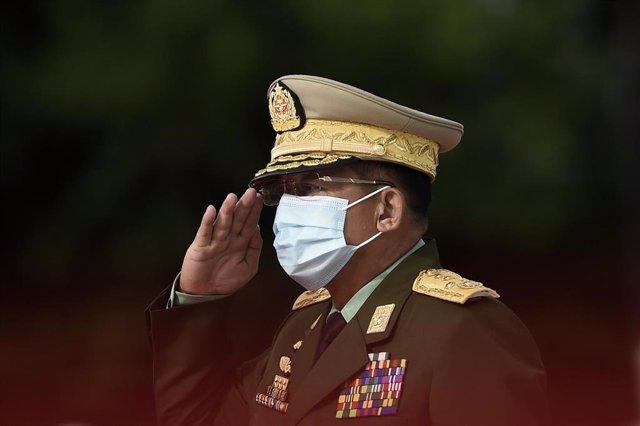 El jefe de la junta militar de Birmania, Min Aung Hlaing