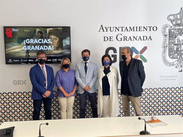 El delegado territorial de Turismo de la Junta en Granada, Gustavo Rodríguez, asiste al balance de la exposición #INGOYA.