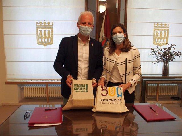 Logroño y Vitoria firman un convenio de colaboración para la promoción turística cruzada