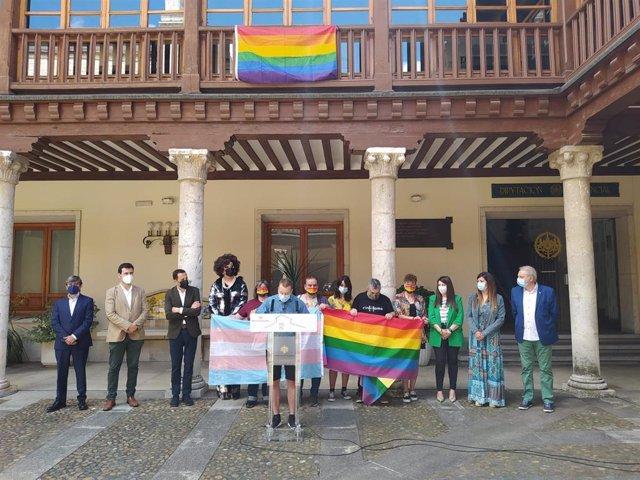 Acto celebrado en el Palacio de Pimentel con motivo de la celebración del Día del Orgullo LGTBI