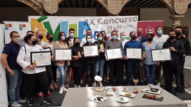 Entrega de premios del concurso 'Ávila en tapas'.