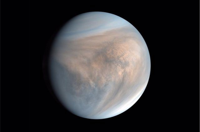 Archivo - Imagen del planeta Venus obtenida por la nave espacial japonesa Akatsuki en 2016, donde se aprecian claramente sus nubes