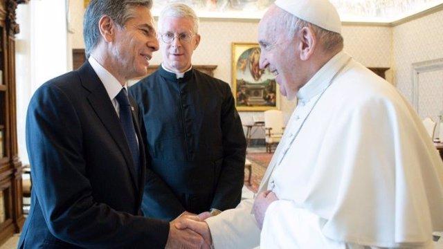El Papa Francisco recibe en el Vaticano al secretario de Estado de EEUU, Antony J. Blinken.