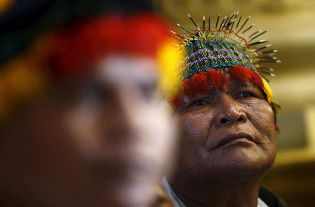 Archivo - Indígenas de la selva amazónica de Perú.