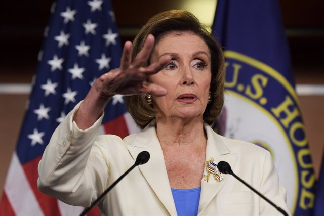 24 June 2021, US, Washington: US House Speaker Nancy Pelosi speaks during a press conference about 2021 United States Capitol attack during her weekly press conference at HVC/Capitol Hill. Photo: Lenin Nolly/ZUMA Wire/dpa