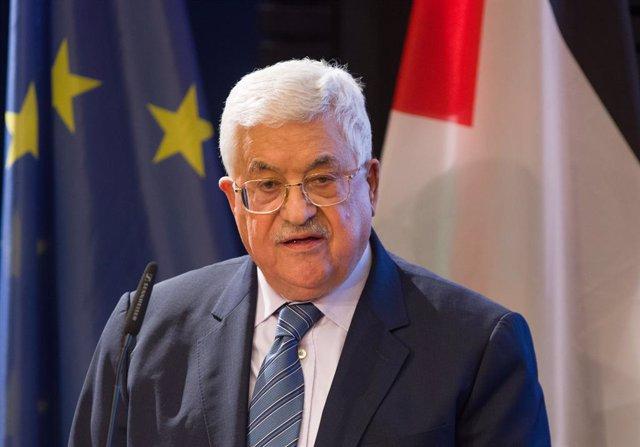 Archivo - El presidente de la Autoridad Palestina, Mahmud Abbas