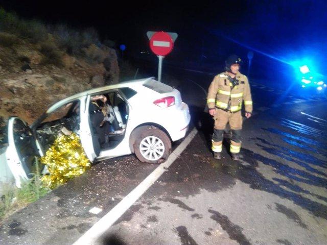 Imagen del coche accidentado facilitada por el CEIS