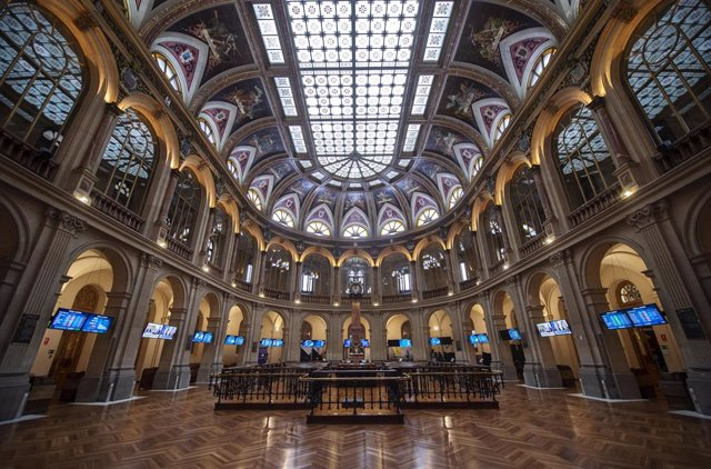 Instalaciones del Palacio de la Bolsa de Madrid en Madrid, (España).