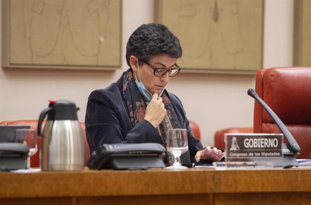Archivo - La ministra de Asuntos Exteriores, Unión Europea y Cooperación, Arancha González Laya, en una comparecencia en el Congreso