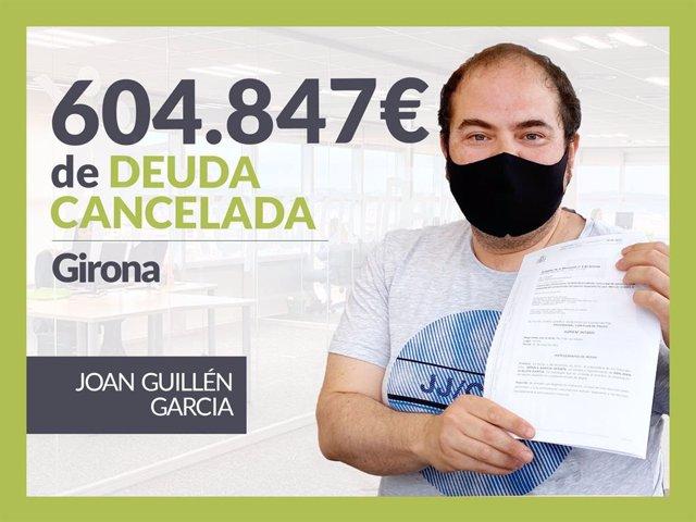 : Joan Guillén, exonerado con Repara Tu Deuda con la Ley de Segunda Oportunidad.