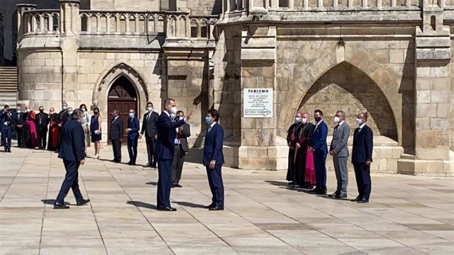 El Rey Felipe VI llega a la Catedral de Burgos para inaugurar 'Lux'.