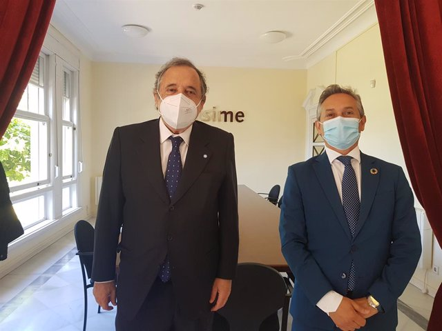 El embajador y el secretario general de Asime tras el encuentro