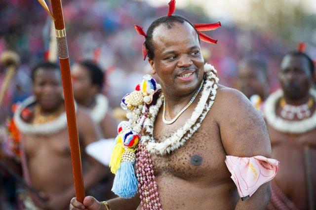 Archivo - El rey de Esuatini, Mswati III