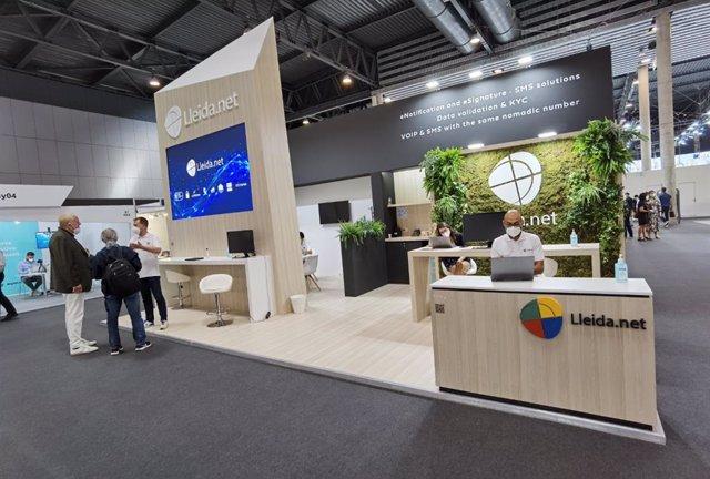 Estand de Lleida.net en el Mobile World Congress