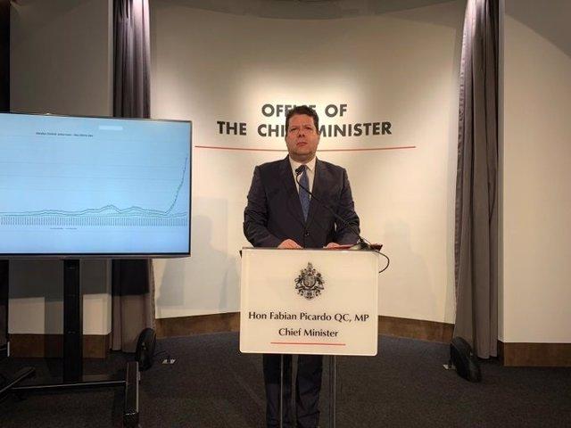 Archivo - El ministro principal de Gibraltar, Fabian Picardo