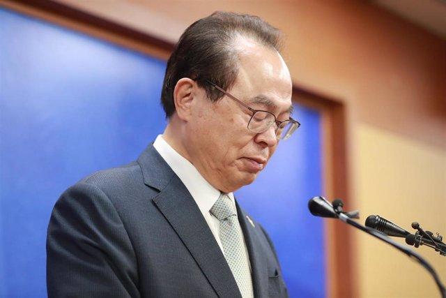 Archivo - El exalcalde de Busán Mayor Oh Keo Don.