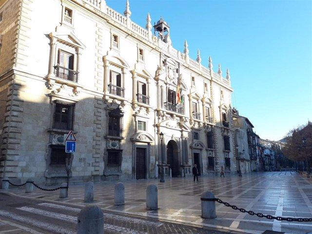 Archivo - Real Chancillería de Granada, sede del TSJA en Granada