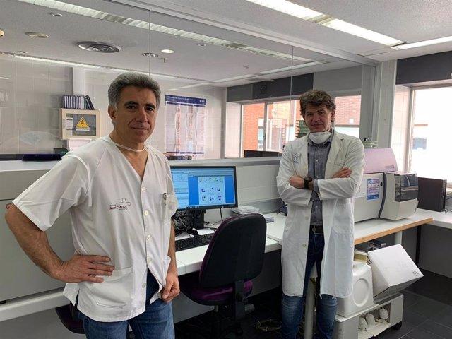 Los doctores Enrique Bernal y Alfredo Minguela