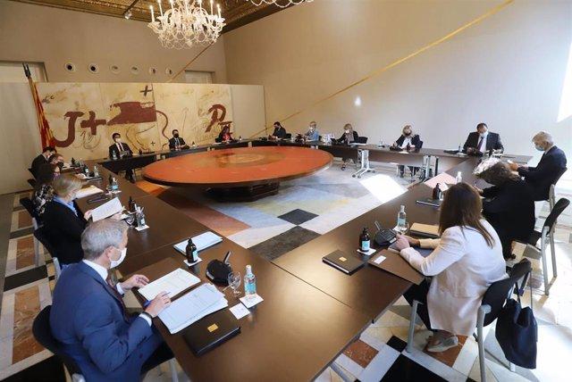 Consell Executiu del 29 de junio, con el presidente del Govern, Pere Aragonès.