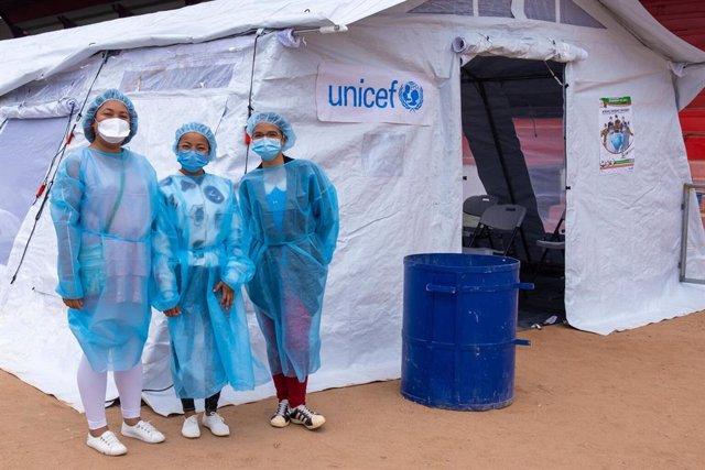 Apertura de un centro de vacunación contra la COVID-19 en Antananarivo