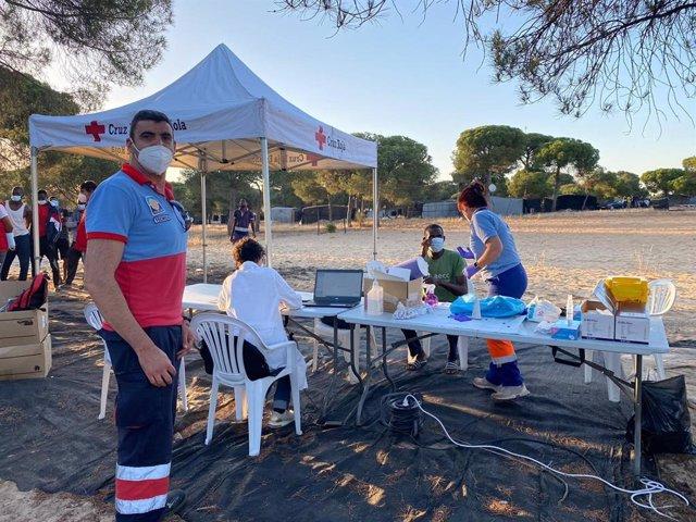 Camapaña de vacunación en los asentamientos de Huelva.