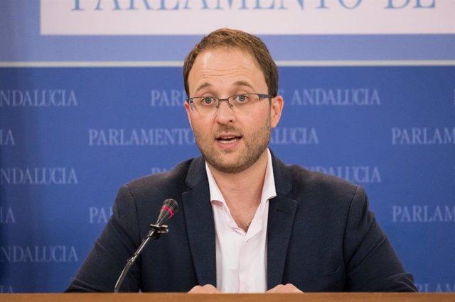 Archivo - El portavoz de Empleo, Formación y Trabajo Autónomo del PP-A en el Parlamento, Erik Domínguez