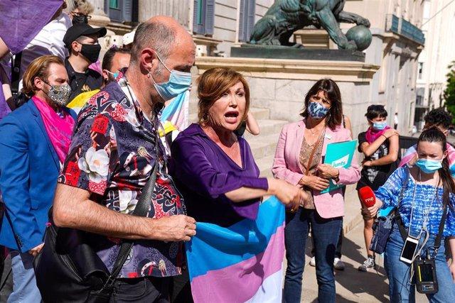 Archivo - Una activista por los derechos trans, Mar Cambrollé