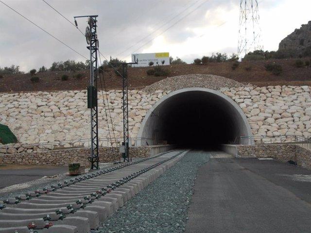Túnel de Archidona, que forma parte de la Línea de Alta Velocidad Antequera-Granada
