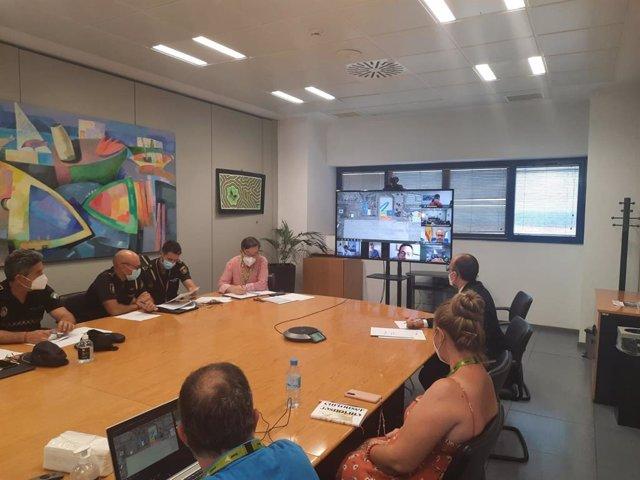 Junta de Andalucía y Aena realizan un simulacro de accidente en el Aeropuerto de Almería