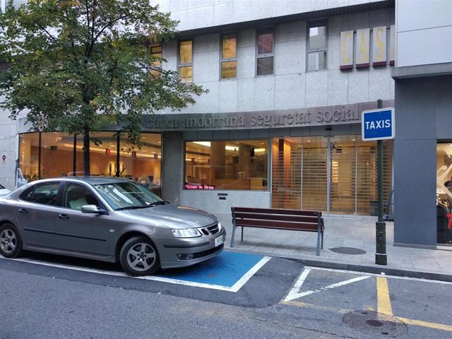 Fachada de las instalaciones de la CASS en Andorra la Vella