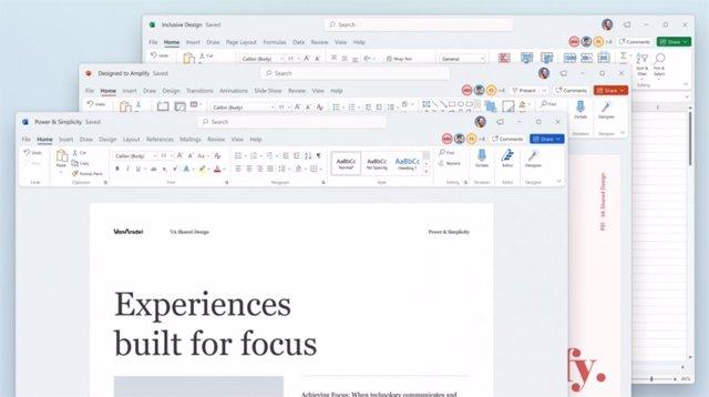 Rediseño de las aplicaciones de Office para Windows