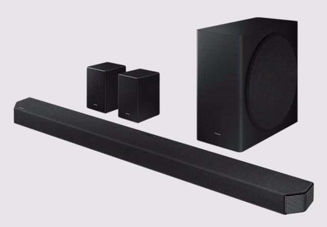 Barra de sonido HW-Q950A de Samsung.