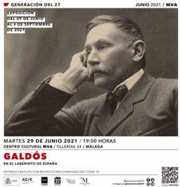 Cartel de la exposición que recorre la vida y los escenarios de Benito Pérez Galdós