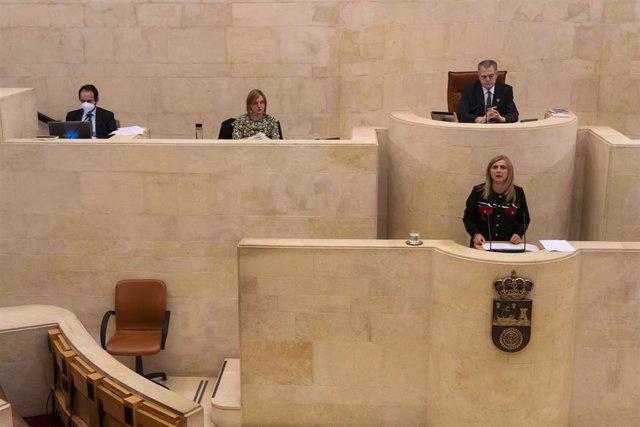 Archivo - Noelia Cobo, portavoz del PSOE, en el Parlamento