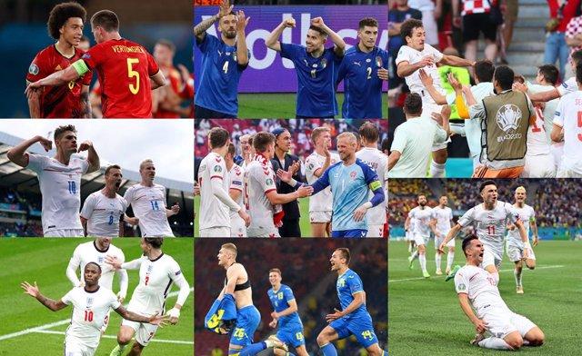 Archivo - Suiza-España, Bélgica-Italia, República Checa-Dinamarca e Inglaterra-Ucrania, cuartos de la Eurocopa