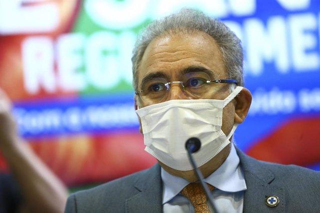 El ministro de Salud de Brasil, Marcelo Queiroga.
