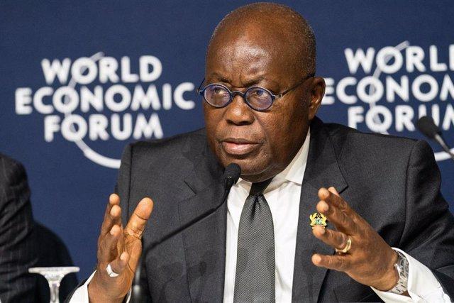 Archivo - El presidente de Ghana, Nana Akufo-Addo