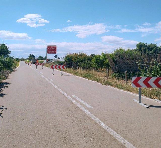 Inicio de las obras en la carretera de Cortes