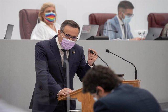 Diego Conesa interviene en la Asamblea Regional