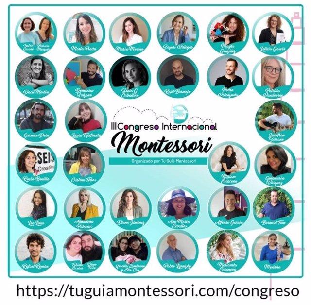 Ponentes tercera edición Congreso Internacional Montessori