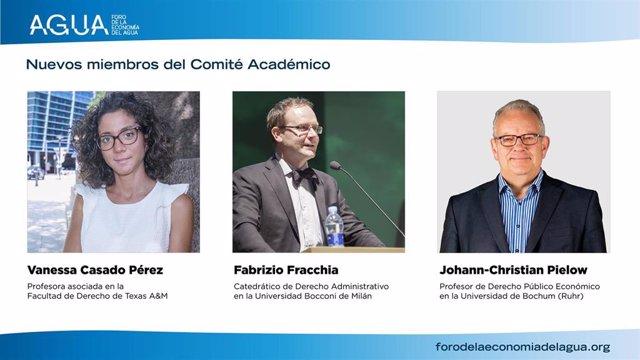 Tres nuevos miembros del Foro de la Economía del Agua