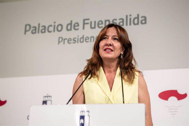 La consejera de Igualdad y portavoz, Blanca Fernández,
