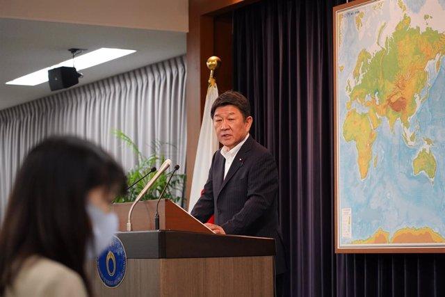 El ministro de Exteriores japonés, Toshimitsu Motegi.
