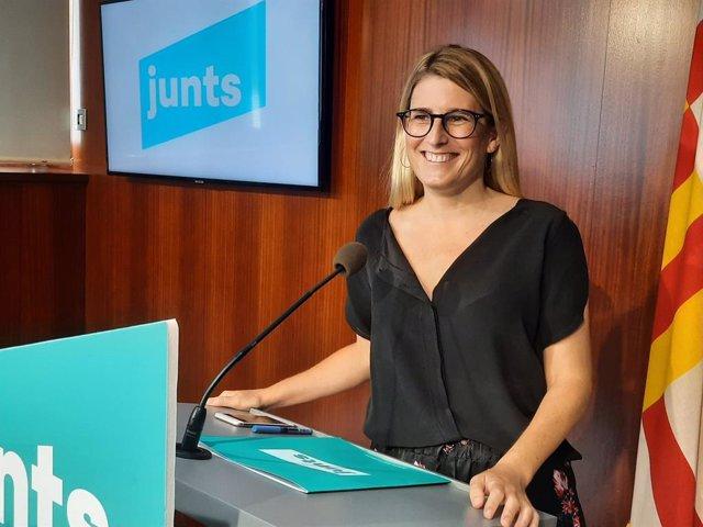 Arxiu - La diputada i presidenta de Junts a l'Ajuntament de Barcelona, Elsa Artadi