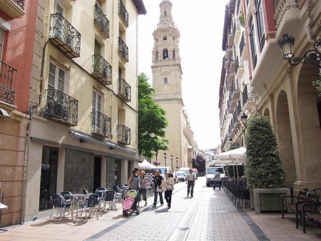 Archivo - Calle Portales de Logroño