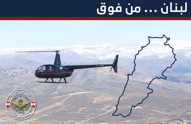 Archivo - Anuncio del Ejército de Líbano sobre vuelos turísticos en helícoptero
