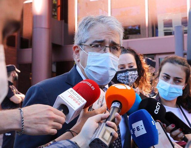 Arxiu - El coordinador de defensa dels exconsellers del PDeCAT i exconseller de Presidència, Francesc Homs