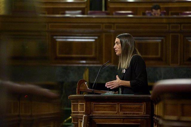 Archivo - Arxiu - La portaveu de Junts per Catalunya, Míriam Nogueras, al Congrés dels Diputats