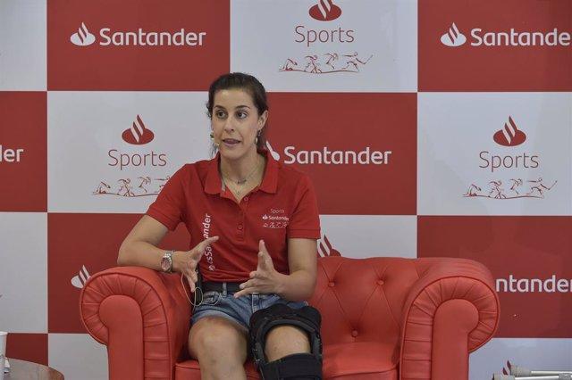 La campeona olímpica de bádminton Carolina Marín afirma que su objetivo es el oro en París 2024 tras la grave lesión de rodilla que le ha apartado de Tokyo 2020.